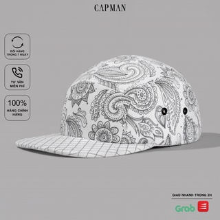 Mũ lưỡi trai CAPMAN chính hãng full box, nón kết nam snapback hoa văn CM62 thumbnail