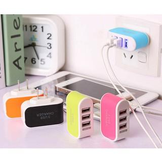 """Củ Sạc 3 Cổng USB 3.1A Nhiều Màu giá chỉ còn <strong class=""""price"""">100.000.000đ</strong>"""