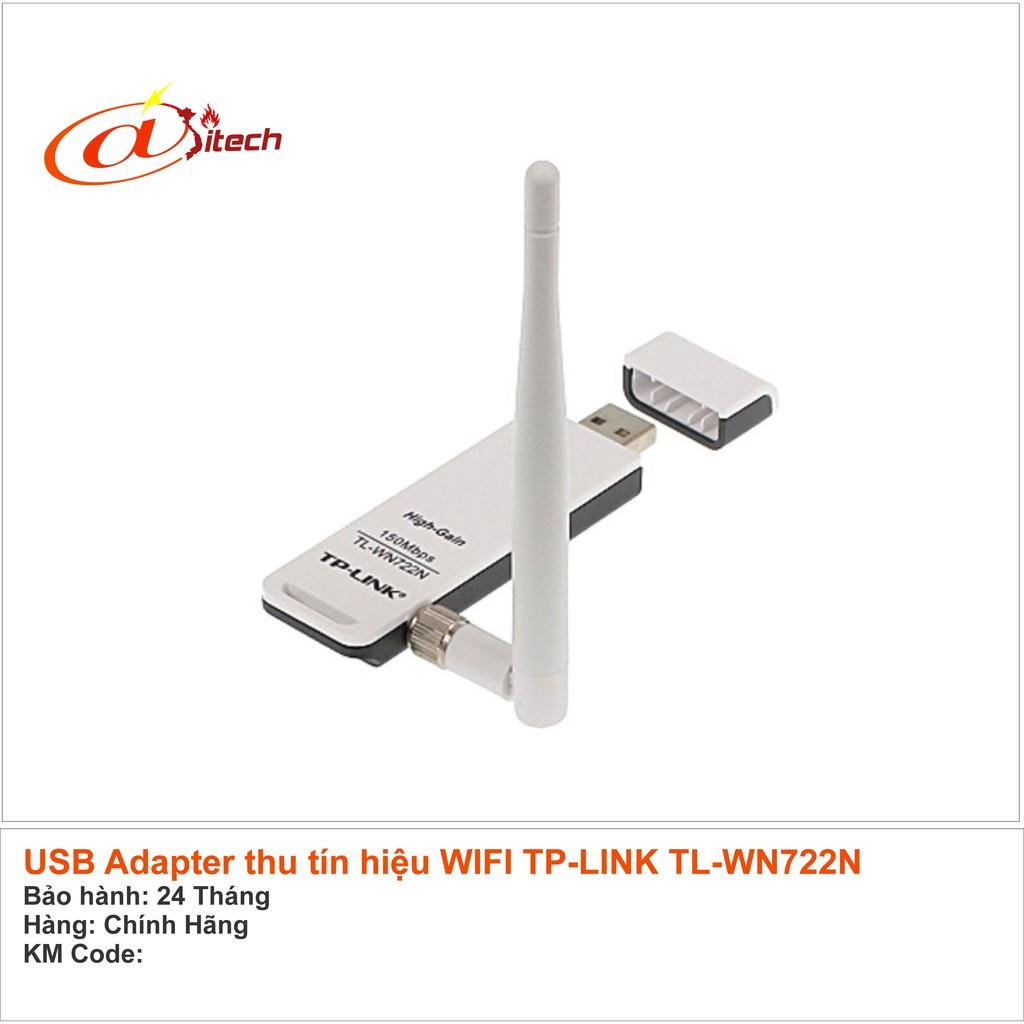 Mua Gi Sc B Thu Sng Wifi Tplink Wn 722n Ch Cn 189000 Tp Link Tl Wn722n Usb Wi Fi Wireless Adapter