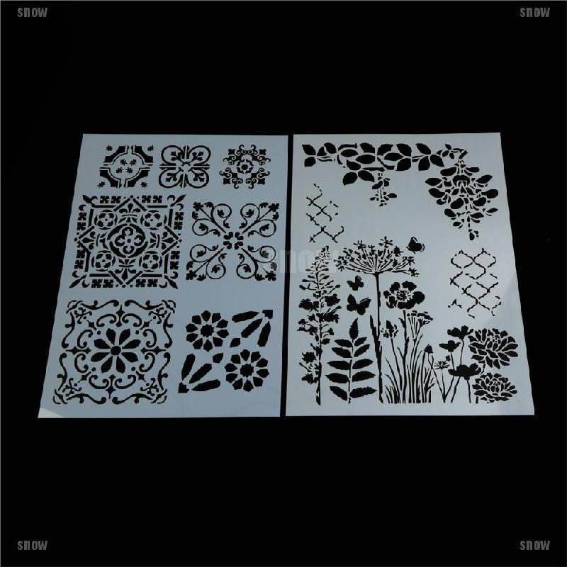 [snow]flower layering stencils for walls painting scrapbooking stamping stamp album decor