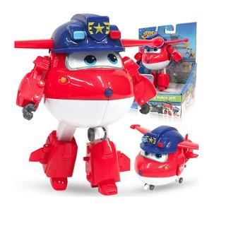 Jett Team Cảnh Sát đội bay siêu đẳng super wings Robot Biến Hình Máy Bay Cỡ Lớn