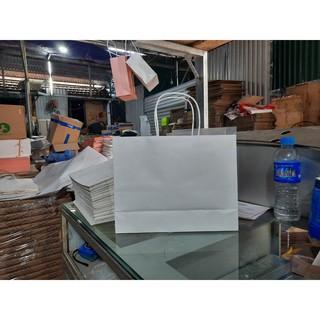 10 Túi 22x29x10 cm giấy krap nhật màu trắng