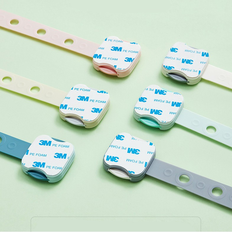 Khoá Nhựa Gài An Toàn Bảo Vệ Bé Khóa Ngăn Kéo Của Tủ Lạnh  Có Thể Điều Chỉnh Độ Dài Dây - KUB