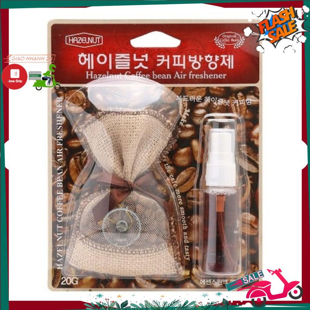 Túi thơm cao cấp Coffee Halzenut Korea 25ml cho xe hơi