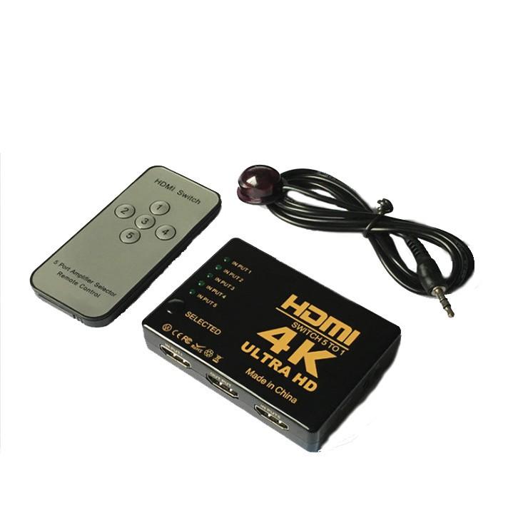 Bộ chia HDMI 4K 5 Port 4K Ultra HD (có...
