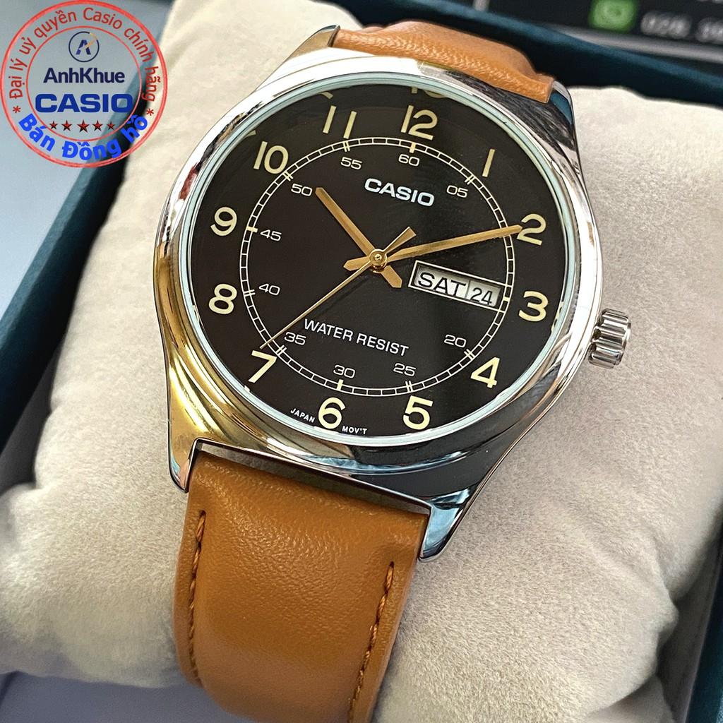 Đồng hồ nam Casio MTP-V006 MTP-V006L MTP-V006GL bảo hành 1 năm chính hãng Anh Khuê d