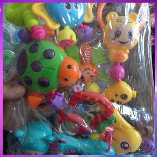 [Hàng Đẹp] Bộ đồ chơi xúc xắc lục lạc 8 món dễ thương cho bé Siêu Chất