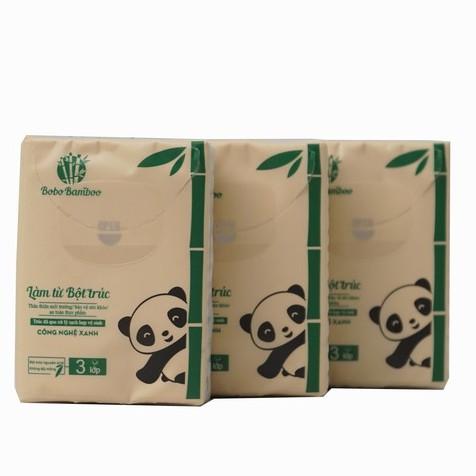 5 gói giấy gấu trúc bỏ túi BOBO BAMBOO cao cấp siêu dai