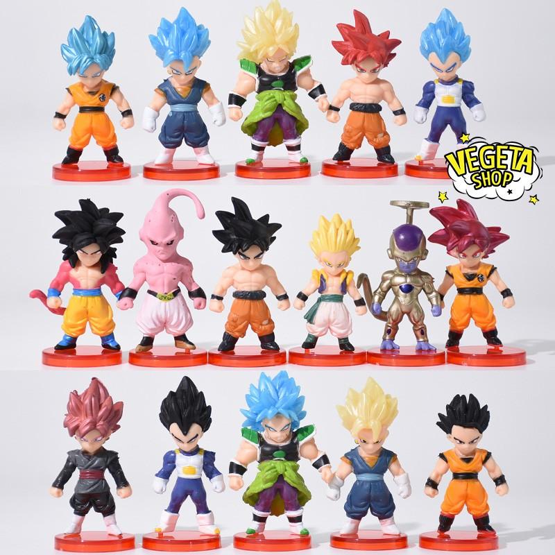 Mô hình Dragon Ball – Figure Set 16 mẫu nhân vật Dragon ball Super – 3cm x 7cm
