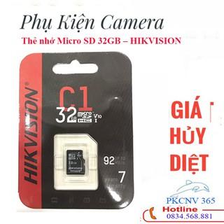 (Thẻ nhớ BH 24TH)Thẻ nhớ Micro SD 32GB – HIKVISION HÀNG CHÍNH HÃNG