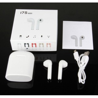 [Giá Xả Kho] Tai nghe Bluetooth i7S nghe 2 tai Không dây - Nhỏ gọn kèm đốc sạc 3 in 1 Full Box thumbnail