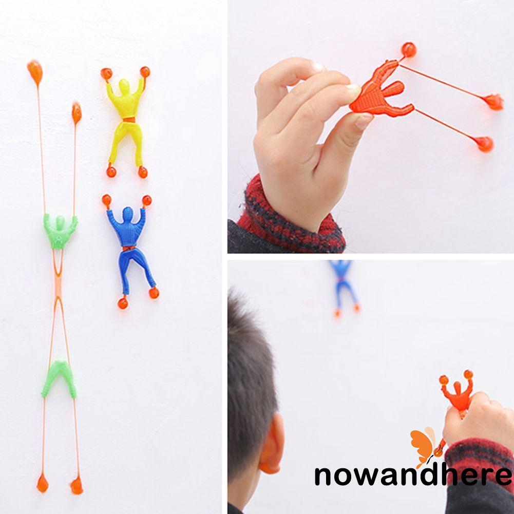 WNE-1 Pc Sticky Wall Climbing Flip Rolling Men Climber Kids Toy Favors