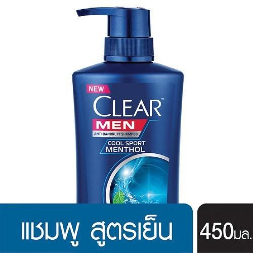 Dầu gội đầu Clear men Thái Lan mẫu mới 450ml[thái lan]