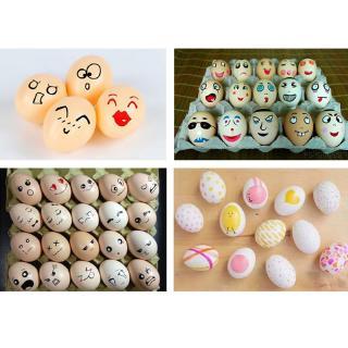10pcs Doodle Easter Eggs Creative Handmade DIY Easter Egg Cartoon Painted Eggshell Toys