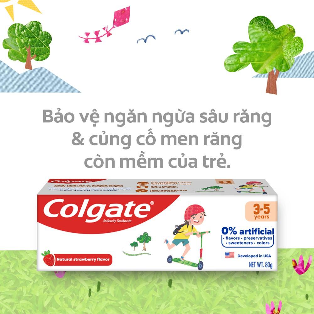Kem Đánh Răng trẻ em Colgate Kid Free From dành cho bé 3-5 tuổi 80g
