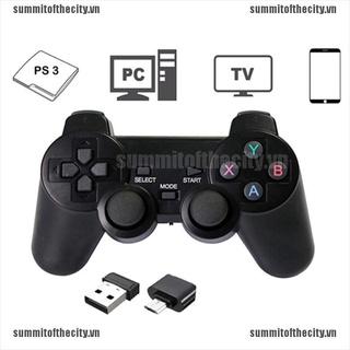 Tay cầm chơi game không dây 2.4ghz chuyên dụng cho PS3 PC TV Box thumbnail