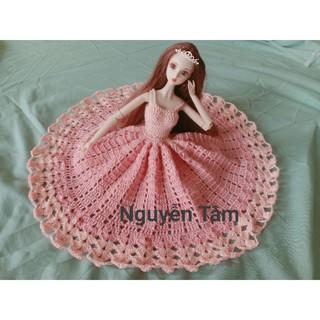 Đầm len công chúa búp bê xinyi, barbie xinh lung linh .
