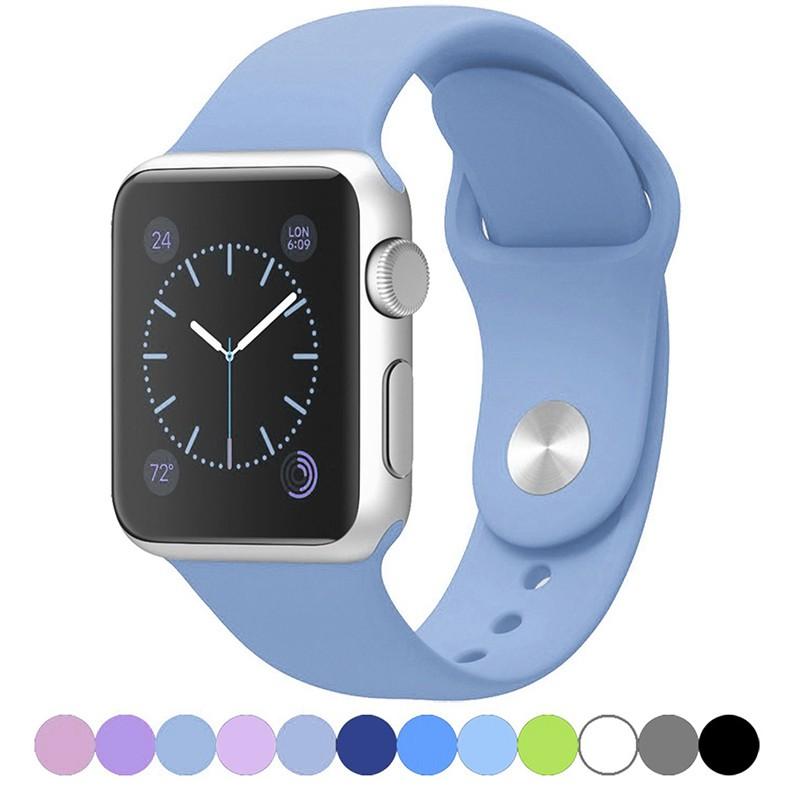 Dây Đeo Bằng Silicon Mềm Cho Đồng Hồ Thông Minh Apple Watch Series321 38 / 42Mm