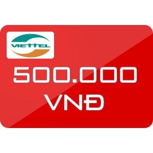 Thẻ cào Viettel 500.000
