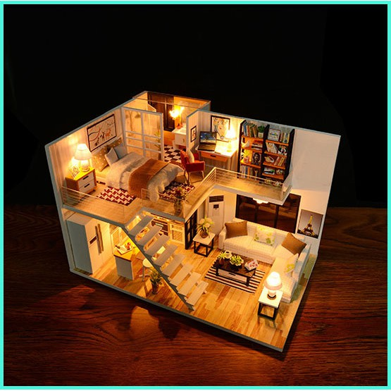 Mô Hình Nhà Gỗ DIY