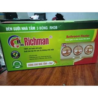 Đèn sưởi nhà tắm 3 bóng Richman