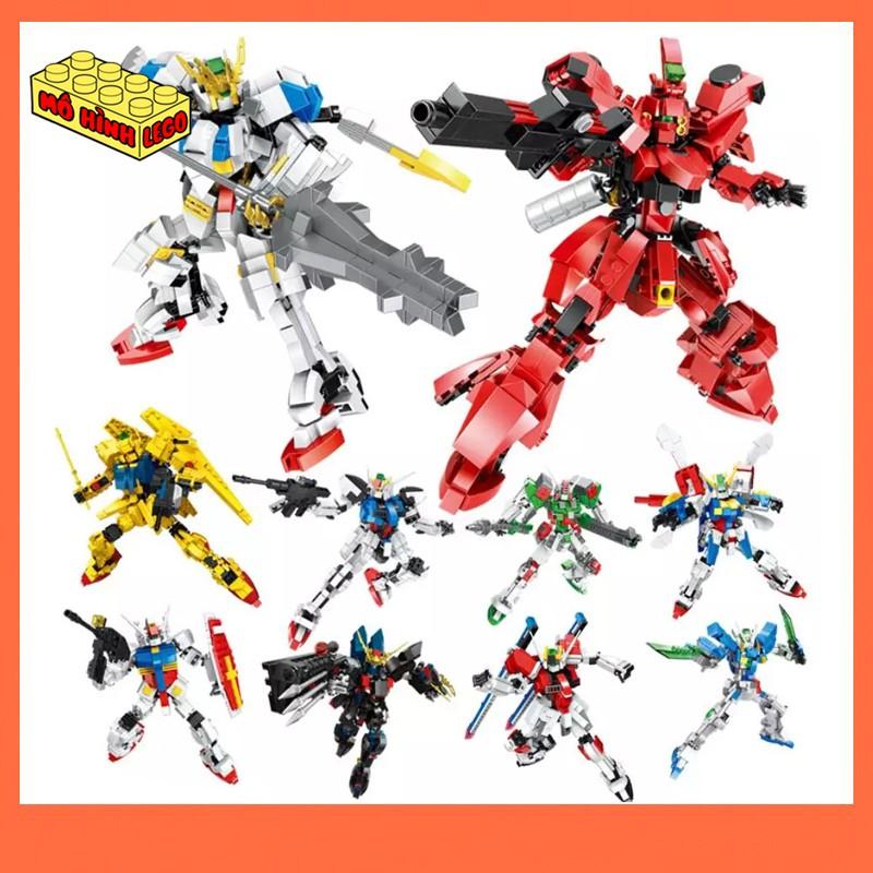 Đồ chơi lắp ráp lego giá rẻ Hsanhe mô hình robot mecha Mobile Suit Gundam