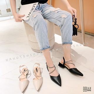 Bệt nữ HHS da cut V quai quấn Hà Huyền Shoes - BB144