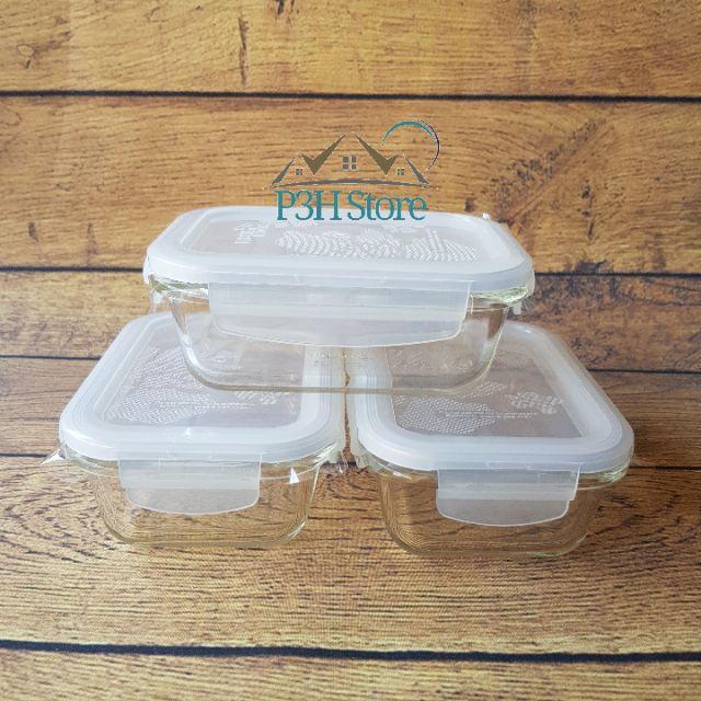 Set 3 hộp thủy tinh Lock&Lock Ovenglass dung tích 380ml