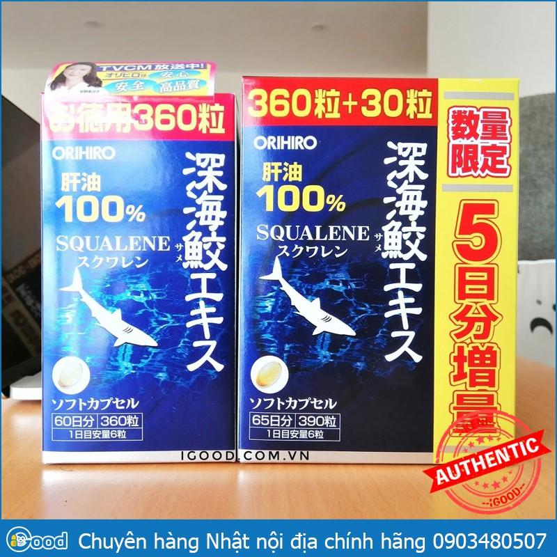 Viên Uống Sụn Vi Cá Mập Orihiro Deep Sea Shark Nhật Bản (date 2022)