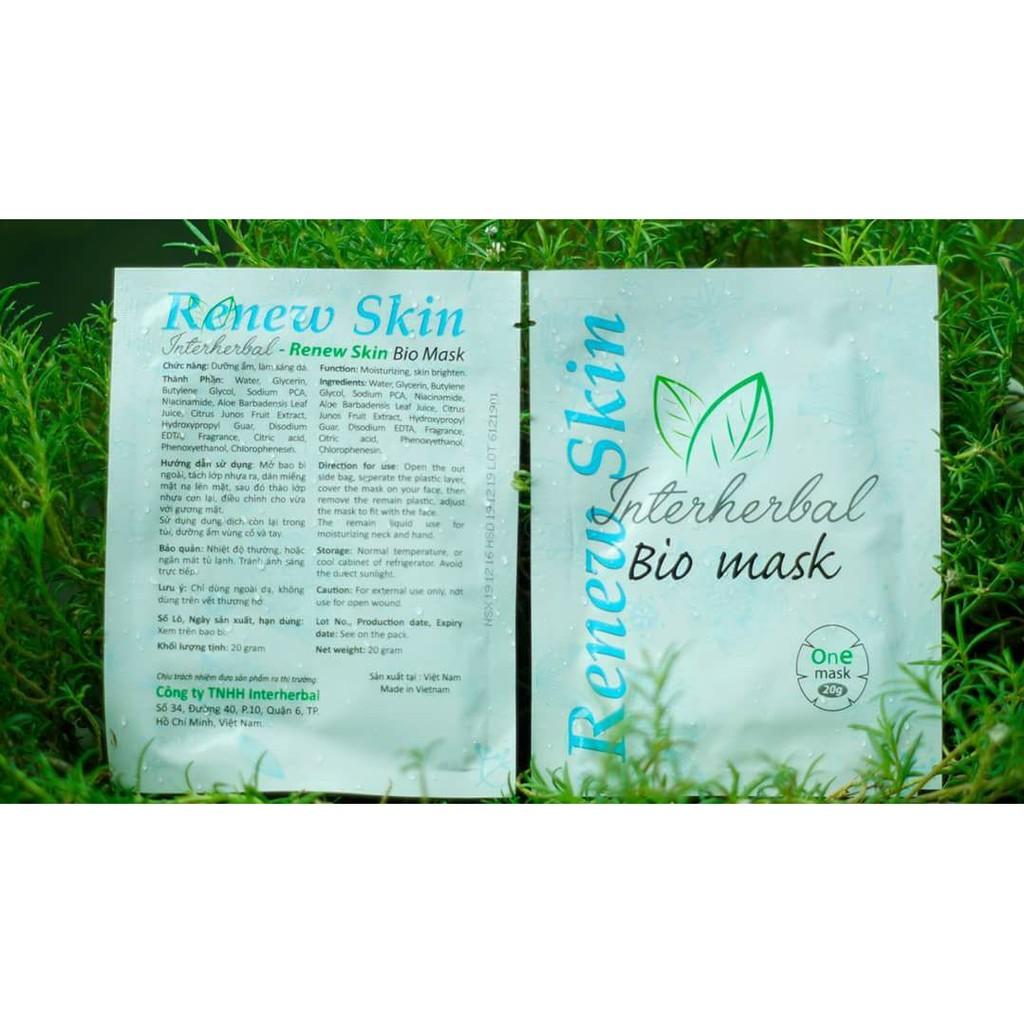 MẶT NẠ SET 15 MIẾNG RENEW SKIN BIO MASK của c song tử