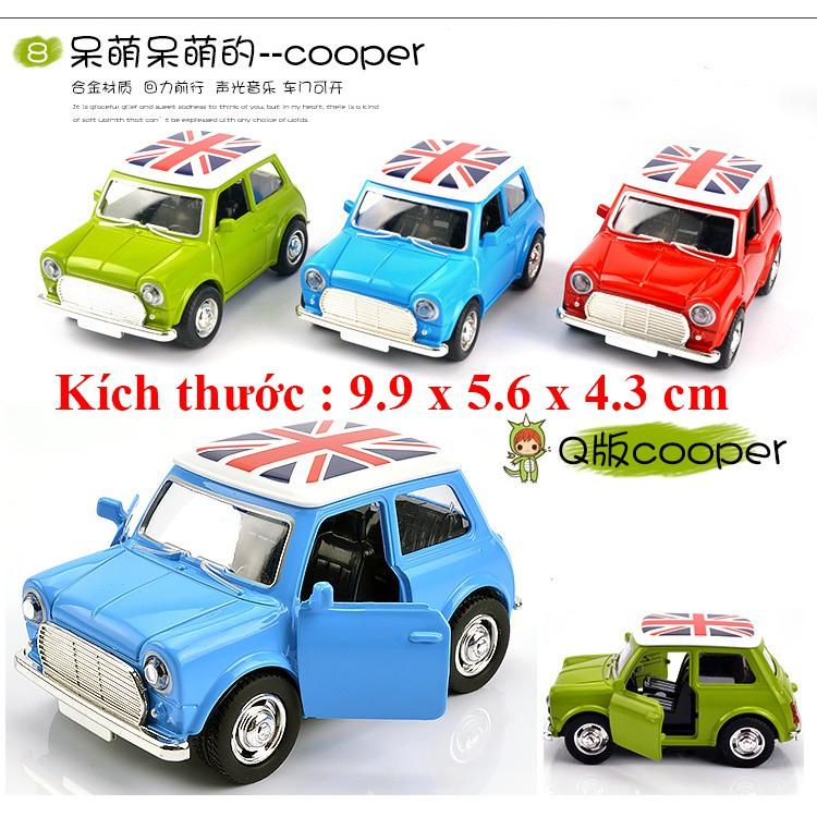 Xe đồ chơi mô hình Mini cooper kim loại có đèn pha sáng, chạy cót, chi tiêt sắc sảo, đẹp,...