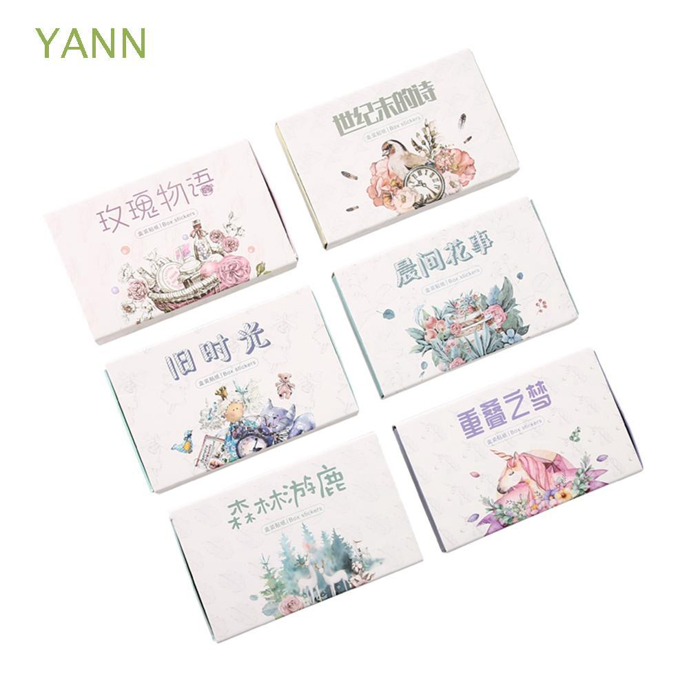 40pcs/Boxed Stationery Kawaii Album Decor Forest Wonderland Scrapbooking Paper Stickers