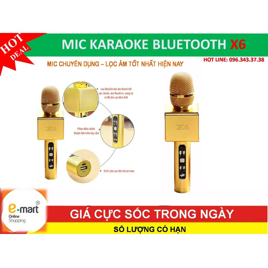 Micro KARAOKE Bluetooth X6-2017 Gold Cao cấp, lọc âm, chống ồn tốt nhất - 3085262 , 420622930 , 322_420622930 , 389000 , Micro-KARAOKE-Bluetooth-X6-2017-Gold-Cao-cap-loc-am-chong-on-tot-nhat-322_420622930 , shopee.vn , Micro KARAOKE Bluetooth X6-2017 Gold Cao cấp, lọc âm, chống ồn tốt nhất