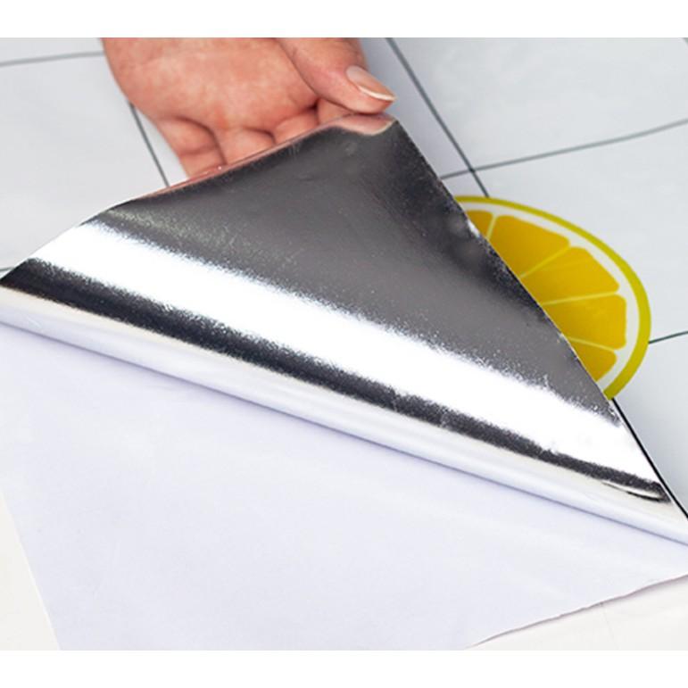 1 mét decal giấy dán tường trái thơm khổ 60cm keo sẵn bóc dán