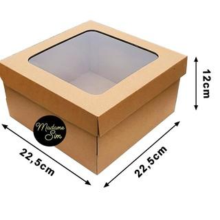 Bộ 10 Hộp Đựng Bánh 22×22 X 12 cm + Cửa Sổ