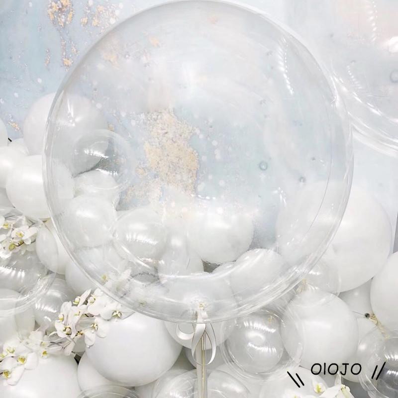1 Bong Bóng Trong Suốt 24 Inch Dùng Trang Trí Tiệc Cưới / Sinh Nhật