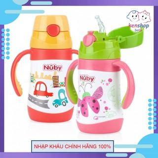 [HÀNG CHÍNH HÃNG]Bình uống nước ống hút bằng Inox giữ nhiệt 2 chiều nóng lạnh, dung tích 280ml