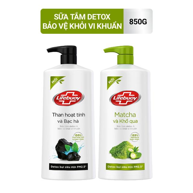 Sữa tắm Lifebuoy Detox và Bảo vệ khỏi vi khuẩn 850gr (Chai)