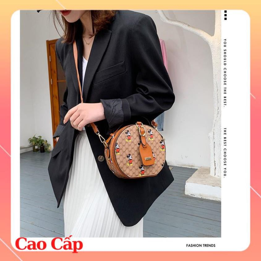 (Siêu Phẩm) Túi tròn mini đeo chéo túi tròn chuột Mickey SATA mẫu mới nhất hàng đẹp TRONGMIC