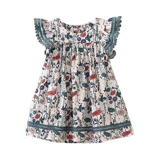 Đầm không tay in họa tiết hoa nhiều màu sắc tùy chọn xinh xắn cho bé gái