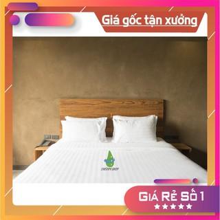 [MUA NGAY] Sale sốc bộ drap cotton cao cấp cho khách sạn size: 1m6 x2m( chân nệm 5cm-15cm) giá rẻ