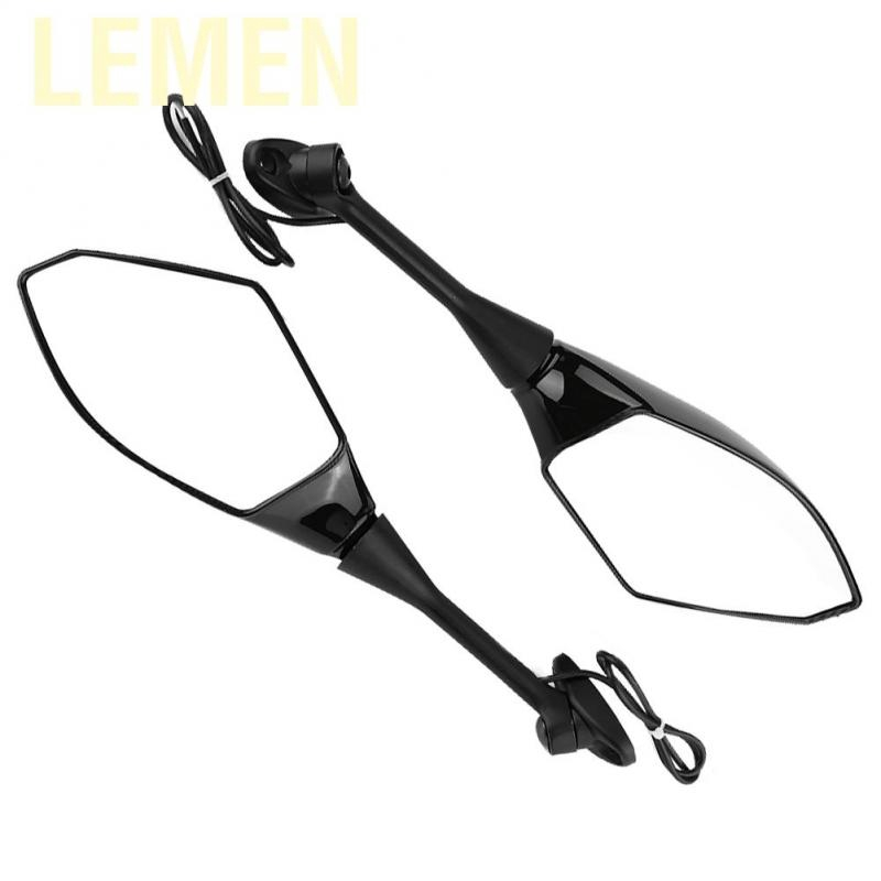 Lemen 2Pcs Motorcycle Modified Rearview Mirror Integrated LED Turn Signal Light for Honda CBR1000