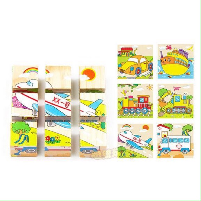 Đồ chơi gỗ - hình khối đa chiều