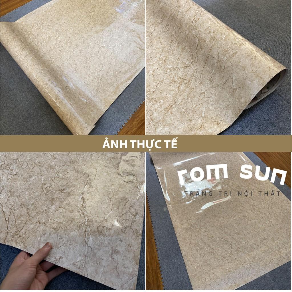 Giấy dán tường giả đá khổ 60cm 1m2 đài loan- Decal miếng dán trang trí giả đá dán tường bếp phòng ngủ 3D sẵn keo
