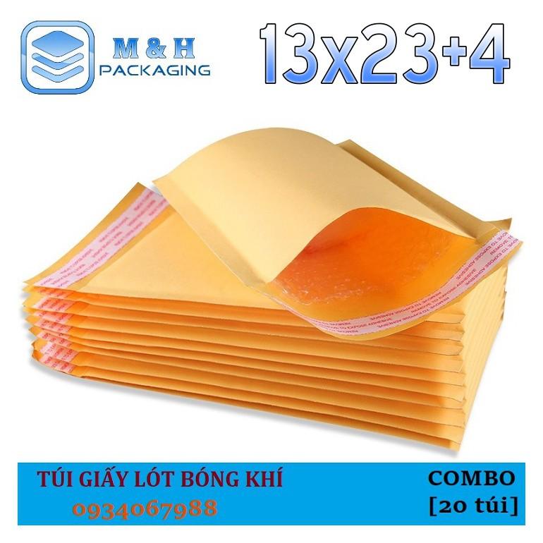 ⚡️[13x23+4cm] Túi giấy bóng khí (kraft) - bao bì đóng gói hàng hóa an toàn Dụng cụ hỗ trợ vận chuyển hàng