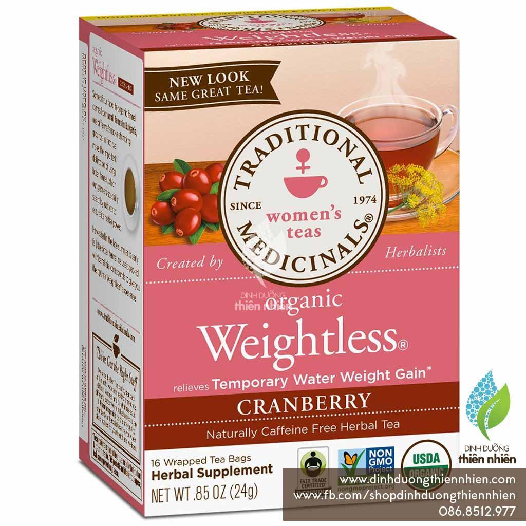 Trà Hữu Cơ Hỗ Trợ Giảm Cân Traditional Medicinals Organic Weightless Cranberry - 2543901 , 1243262800 , 322_1243262800 , 38000 , Tra-Huu-Co-Ho-Tro-Giam-Can-Traditional-Medicinals-Organic-Weightless-Cranberry-322_1243262800 , shopee.vn , Trà Hữu Cơ Hỗ Trợ Giảm Cân Traditional Medicinals Organic Weightless Cranberry