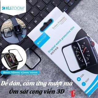 [Có Video Hướng Dẫn + Khung căn viền] Miếng Dán Cường Lực Apple Watch Dẻo Kuzoom 3D - 38|40|42|44 series 5/4/3/2/1