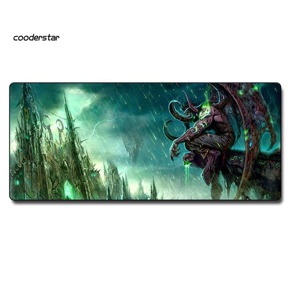 Tấm Lót Chuột Và Bàn Phím Chơi Game Chống Trượt Hình World Of Warcraft