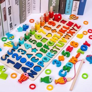[Mã TOY1010 giảm 15% đơn 99K] Đồ chơi trẻ em thông minh – Bảng học đếm số, chữ cái, hình học.