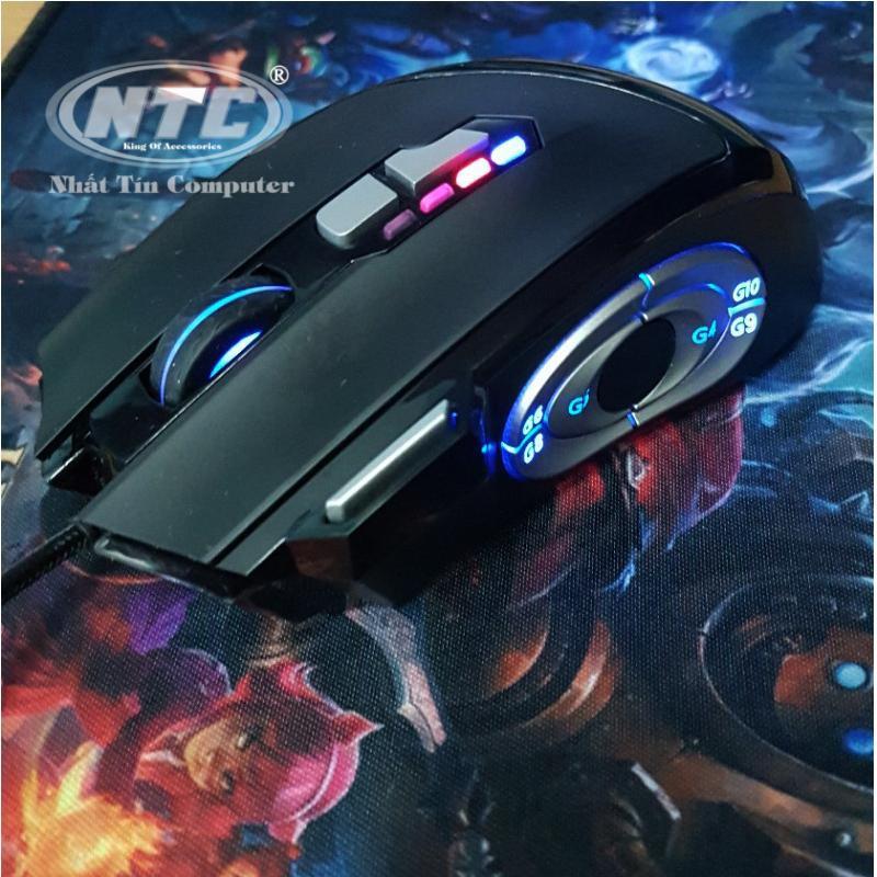 Chuột game cao cấp 13D Bosston GM900 Led đa màu-Hỗ trợ 6 phím game biệt